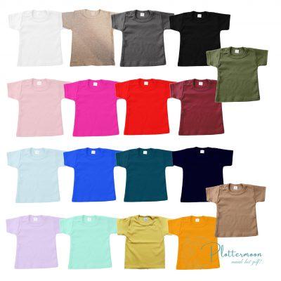 Blanco baby t-shirt met korte mouw