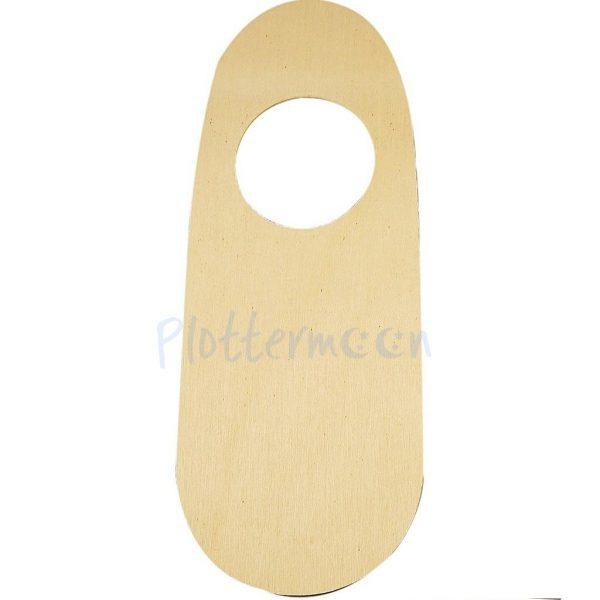 Houten deurhanger