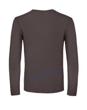 B&C 150 longsleeve blanco t-shirt met lange mouw men achterkant heren bear brown