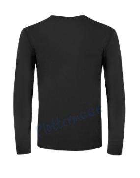 B&C 150 longsleeve blanco t-shirt met lange mouw men achterkant heren black