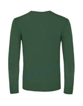 B&C 150 longsleeve blanco t-shirt met lange mouw men achterkant heren bottle green