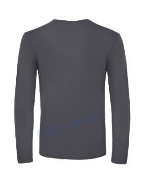 B&C 150 longsleeve blanco t-shirt met lange mouw men achterkant heren dark grey