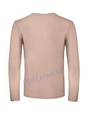 B&C 150 longsleeve blanco t-shirt met lange mouw men achterkant heren millennial pink