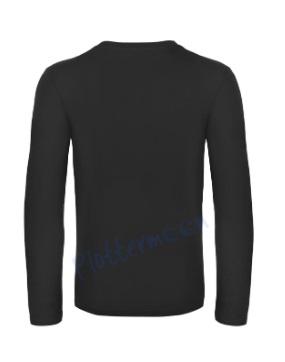B&C 190 longsleeve blanco t-shirt met lange mouw achterkant men heren black