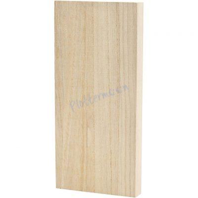 Blanco houten plankje rechthoek