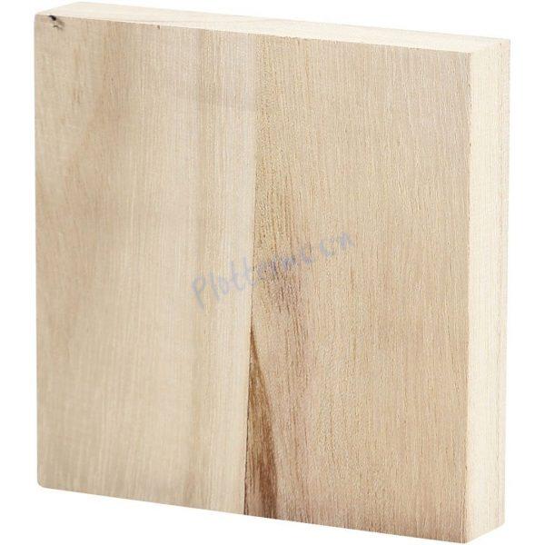 Blanco houten plankje vierkant