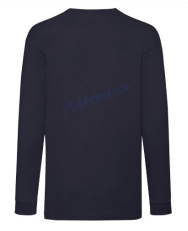 fruit of the loom longsleeve kids achterkant deep navy