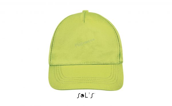 sol's buzz cap pet blanco apple green voorkant