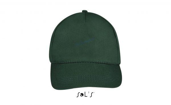 sol's buzz cap pet blanco forest green voorkant