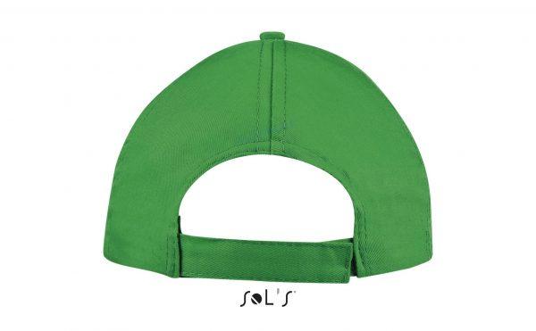 sol's buzz cap pet blanco kelly green achterkant