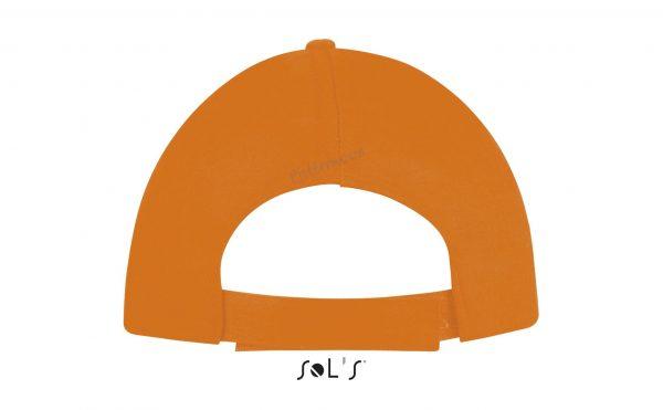 sol's buzz cap pet blanco orange achterkant