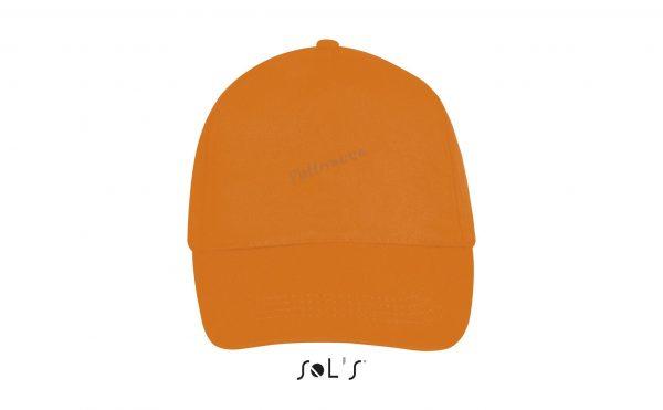 sol's buzz cap pet blanco orange voorkant