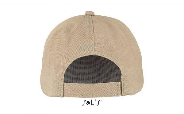 sol's buzz cap pet blanco sand achterkant