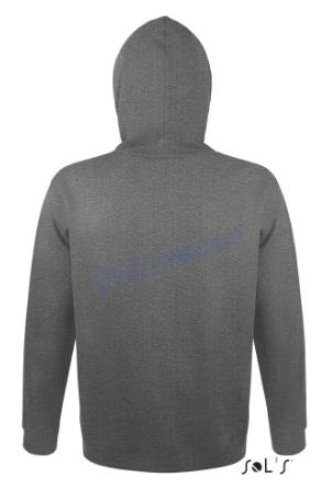 sol's snake hoodie trui met capuchon man heren achterkant charcoal melange