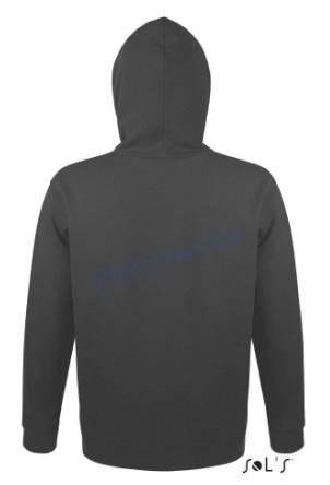 sol's snake hoodie trui met capuchon man heren achterkant dark grey