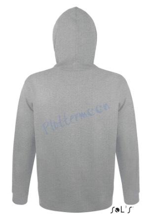 sol's snake hoodie trui met capuchon man heren achterkant grey melange