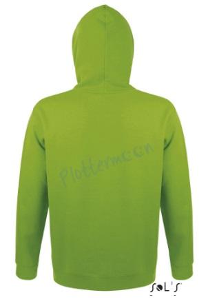 sol's snake hoodie trui met capuchon man heren achterkant lime