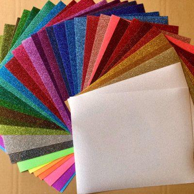 Regenboogpakket glitter flex