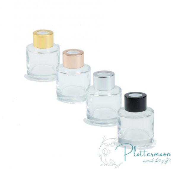 Blanco rond transparant geurflesje