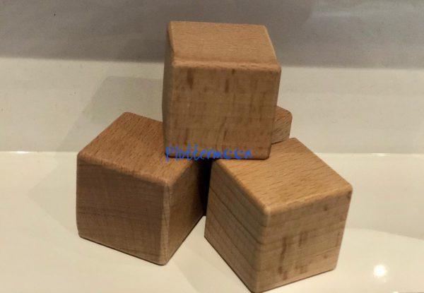 Houten blokken 6 x 6 x 6cm