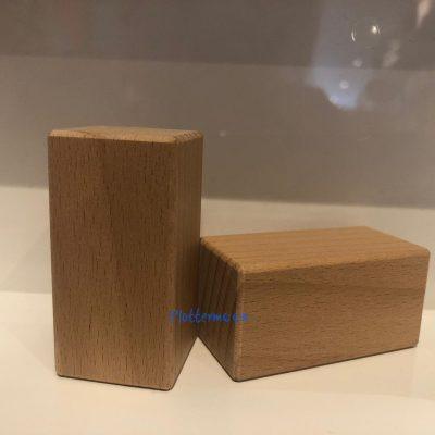 Houten blokken 6 x 3 x 3cm