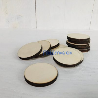 Blanco houten rondje