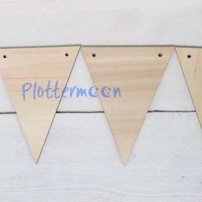 Blanco houten vlag