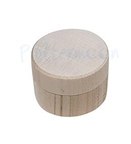 Kist hout rond mini