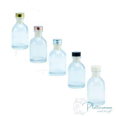 Blanco transparante luxe geurflesje