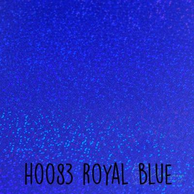 Siser holografische flex H0083 Royal blue
