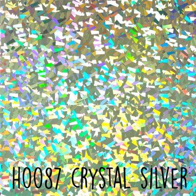 Siser holografische flex H0087 Crystal silver