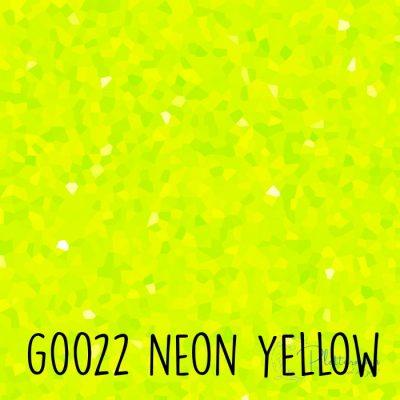 Siser glitter flex G0022 Neon yellow