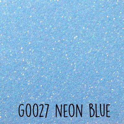 Siser glitter flex G0027 Neon blue