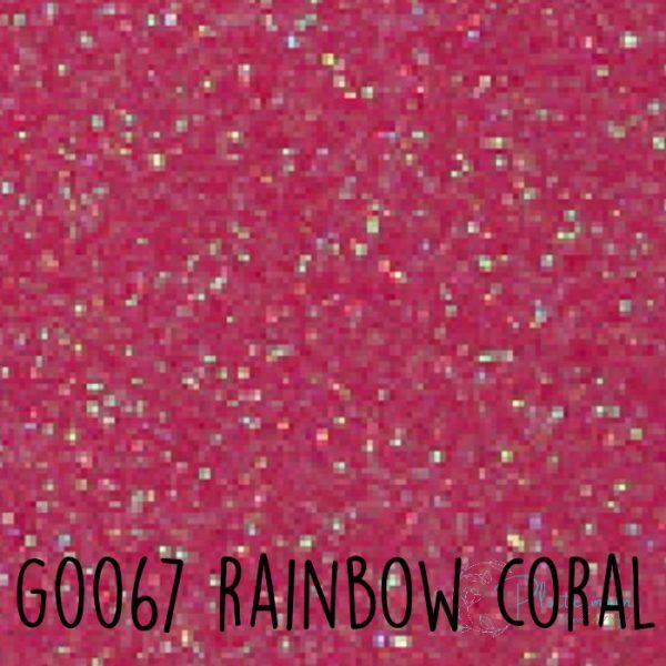 Siser glitter flex G0067 Rainbow coral