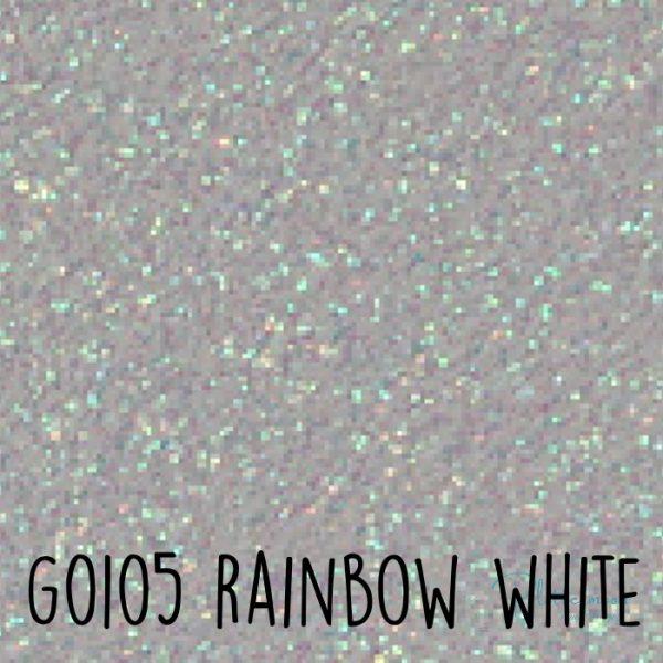 Siser glitter flex G0105 Rainbow white