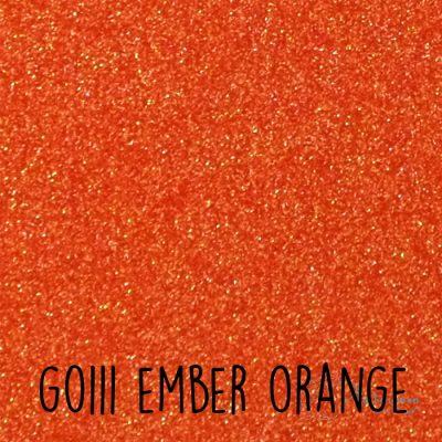 Siser glitter flex G0111 Ember orange